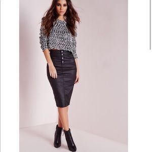 Missguided Sinner High Waisted Denim Skirt